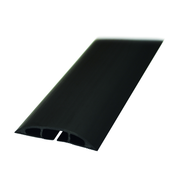 D-Line Black Light Duty Floor Cable Cover 80mm x 1.8m Long CC-1