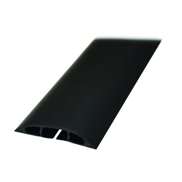 D-Line Black Light Duty Floor Cable Cover 80mm x 1.8m Long CC-1