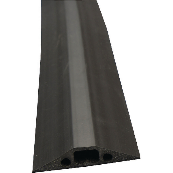 Unspecified D-Line Black Medium Duty Floor Cable Cover 9m Long 68mm Wide FC68B/9M