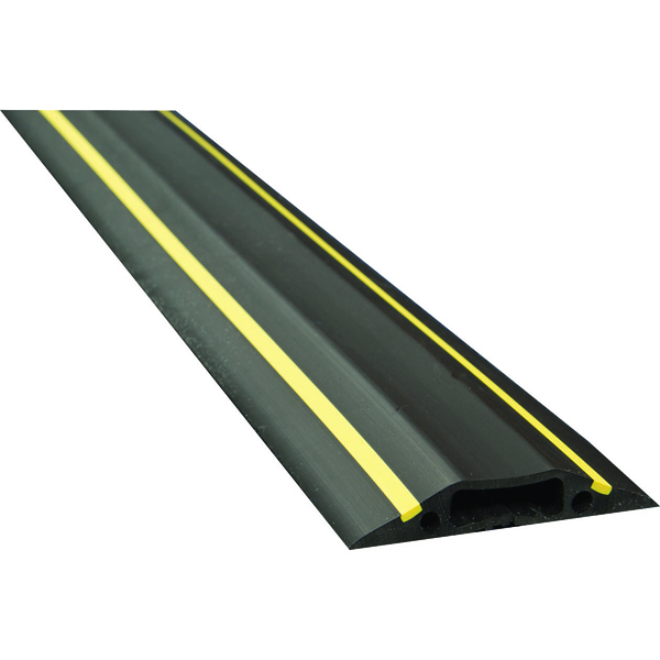 Unspecified D-Line Black/Yellow Medium Hazard Duty Floor Cable Cover 9m FC83H/9M