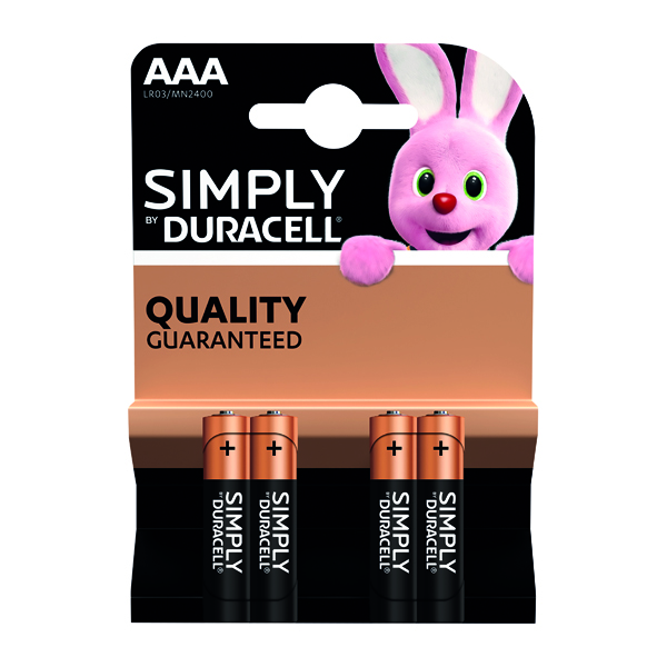 AAA Duracell Simply AAA Battery (4 Pack) 81235219