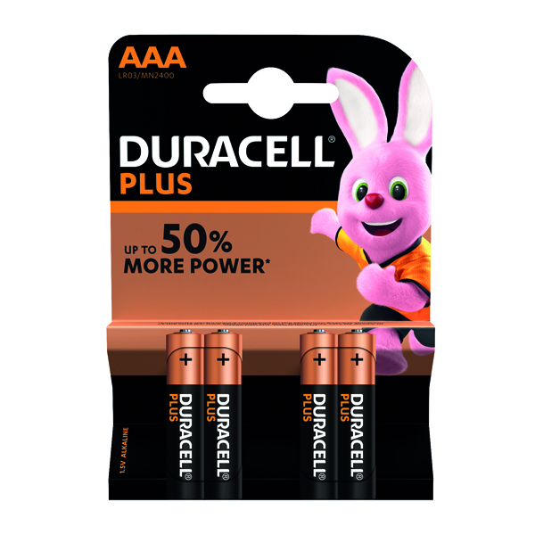 AAA Duracell Plus AAA Battery (4 Pack) 81275396