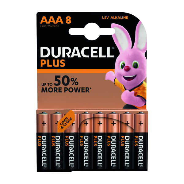 AAA Duracell Plus AAA Battery (8 Pack) 81275401