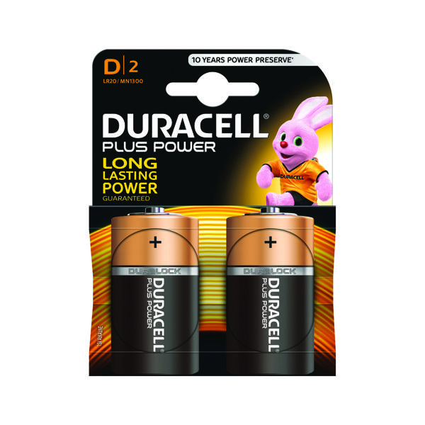 Duracell Plus Size D Battery (2 Pack) 81275443