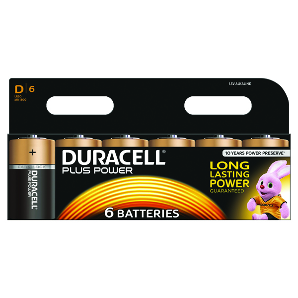 Duracell Plus Size D Battery (6 Pack) 81275448