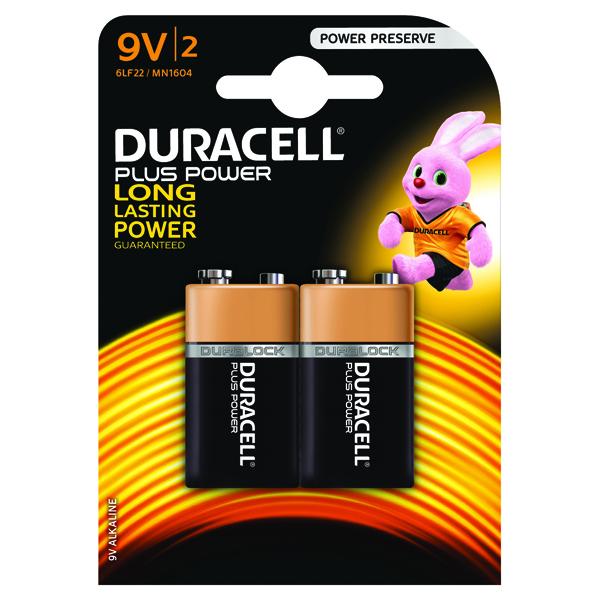9V Duracell Plus 9V Battery (2 Pack) 81275459