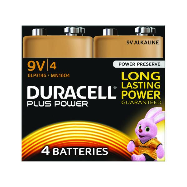9V Duracell Plus 9V Battery (4 Pack) 81275463