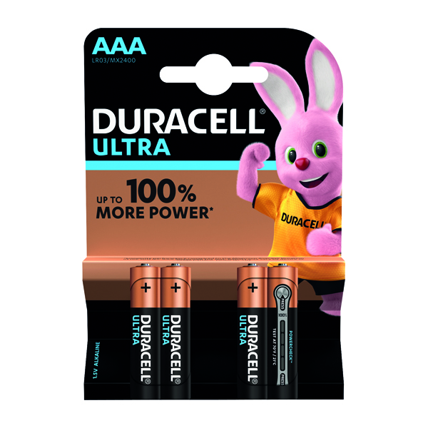 Duracell Ultra Power AAA Batteries (4 Pack) 75051959
