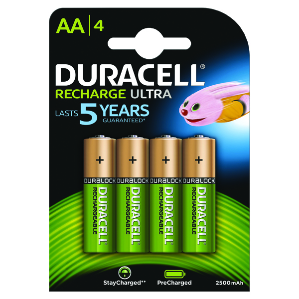 Duracell StayCharged Premium AA Rechargeable 2500mAh Batteries (4 Pack) STAYCHARGED PREM