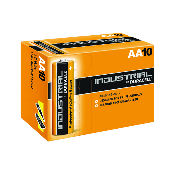 Duracell Industrial AA Alkaline Batteries (10 Pack) 5000832