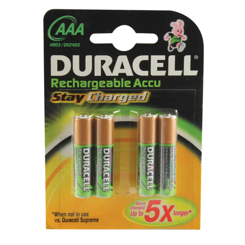 Duracell Stay Charged AAA Batteries (4 Pack) 75071747