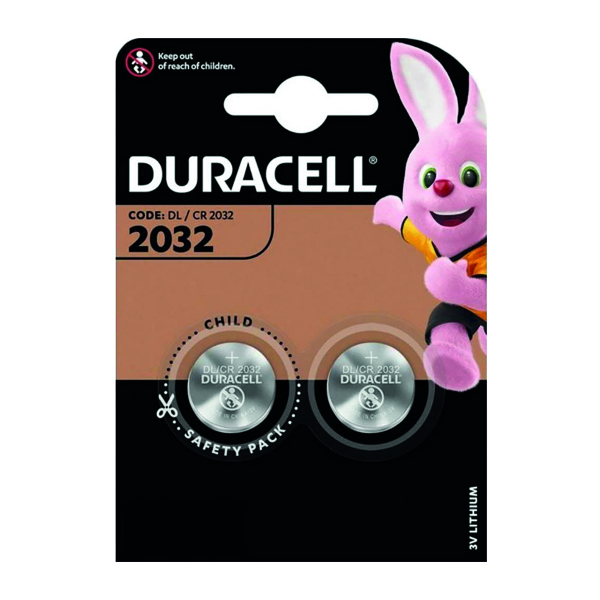 Button Cell Duracell DL2032 3V Lithium Button Battery (2 Pack) 75072668