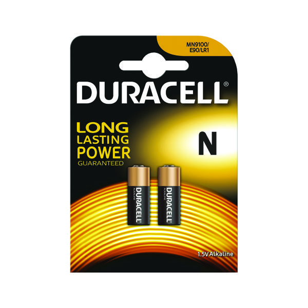 Button Cell Duracell 1.5V N Remote Control Battery MN9100 (2 Pack) 81223600