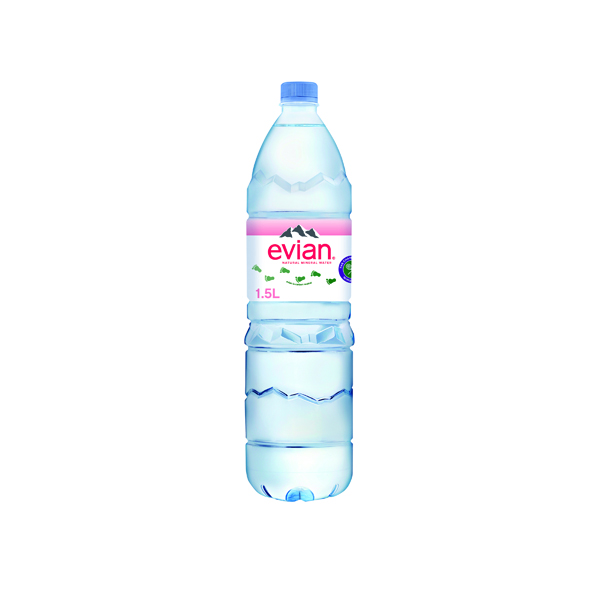Evian Natural Spring Water 1.5 Litre (8 Pack) 143136