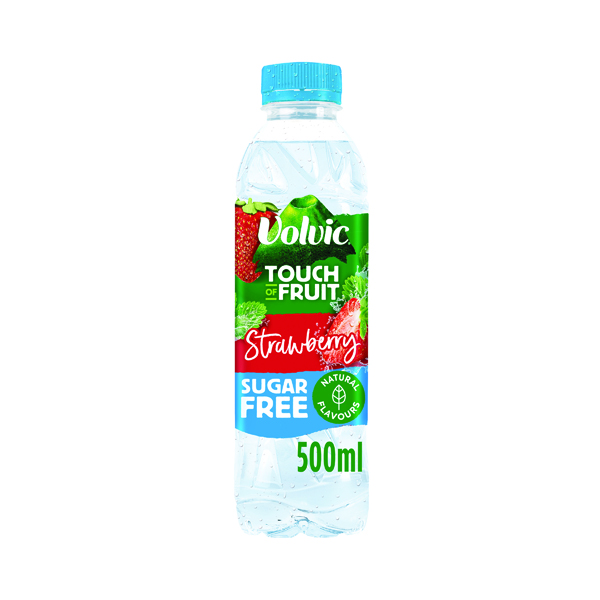 Volvic Touch of Fruit Strawberry Fruit Water 500ml (12 Pack) 122440