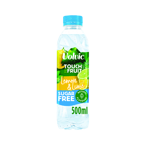 Volvic Touch of Fruit Lemon and Lime Fruit Water 500ml (12 Pack) 122441