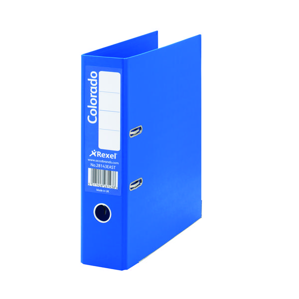 Rexel Colorado Blue 80mm A4 File (10 Pack) 28143EAST