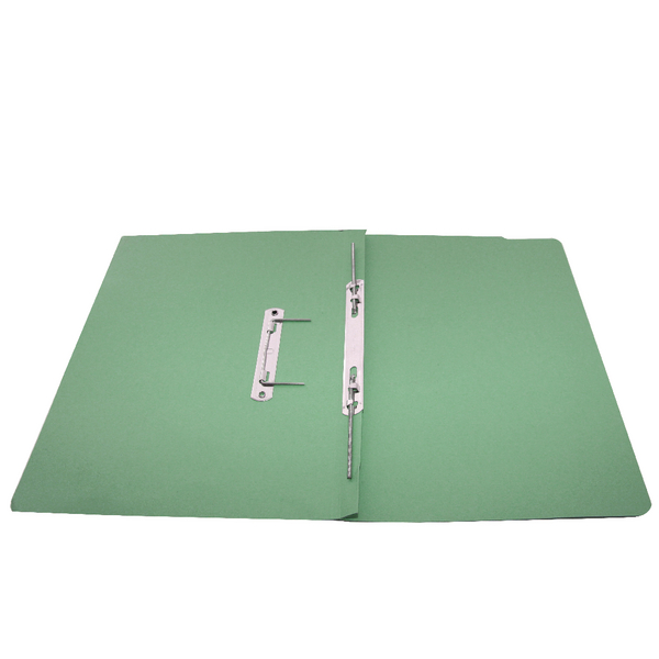 Rexel Jiffex Transfer File Foolscap Green (50 Pack) 43212EAST