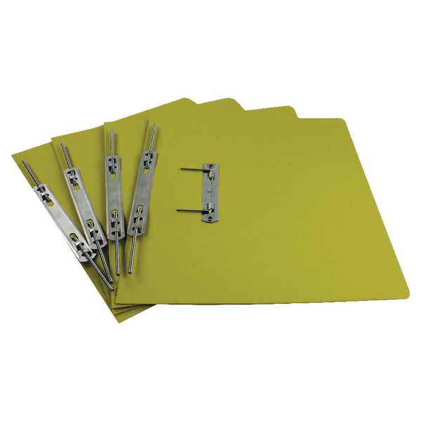 Rexel Jiffex Transfer File Foolscap Yellow (50 Pack) 43219EAST