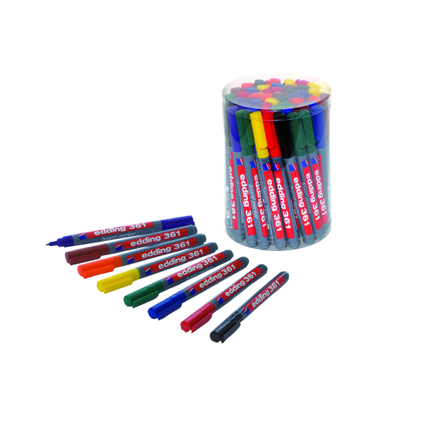 Edding 361 Drywipe Marker Assorted (50 Pack) CP 43