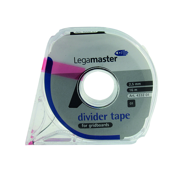 Pen Tray Legamaster Self-Adhesive Tape For Planning Boards 16m Black 4332-01