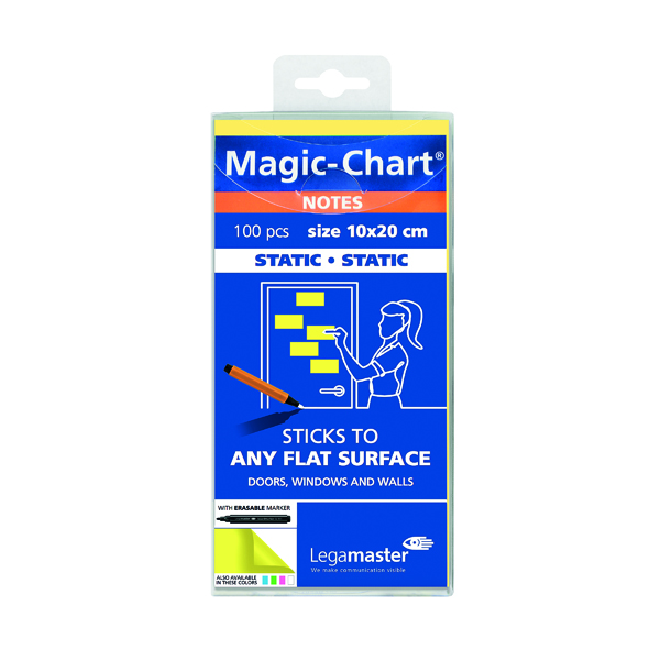 Unspecified Legamaster Magic Notes 200x100mm Yellow with Pen (100 Pack) 7-159405