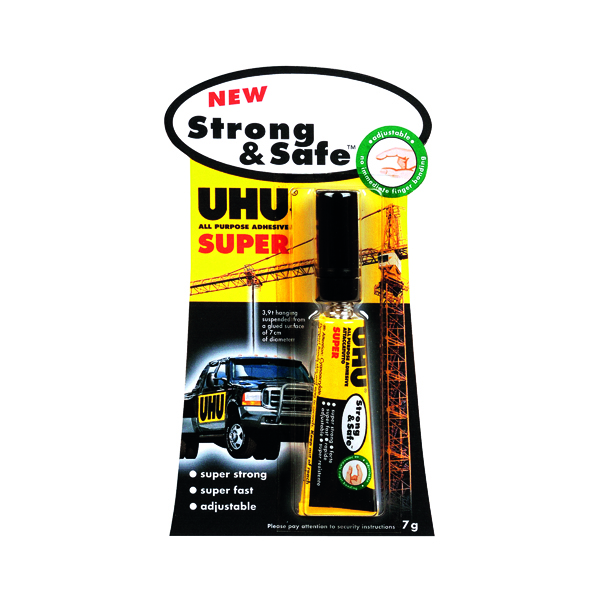 Strong Glues UHU Strong and Safe Super Glue 7g (12 Pack) 39722