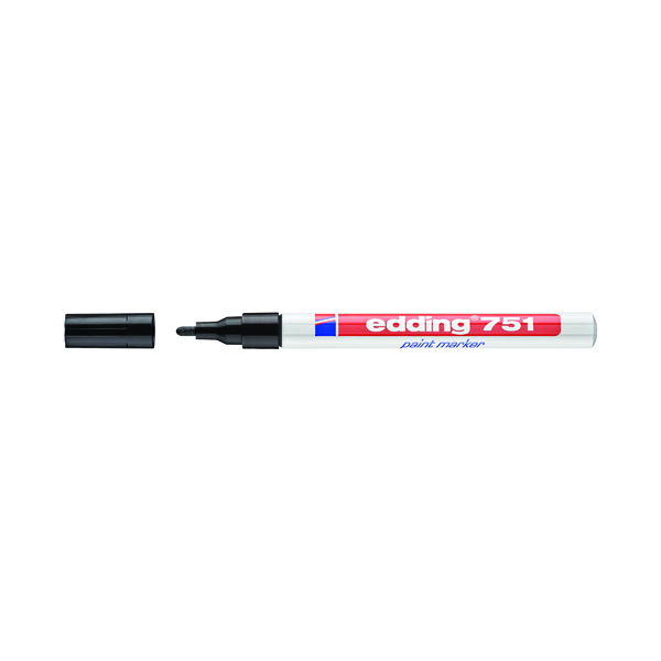 Other Tip Edding 751 Bullet Tip Paint Marker Fine Black (10 Pack) 4-751001