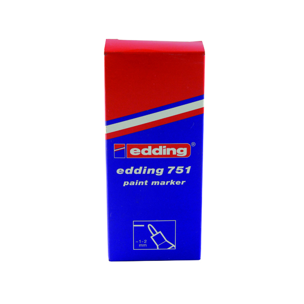 Bullet Tip Edding 751 Bullet Tip Paint Marker Fine Silver (10 Pack) 751-054