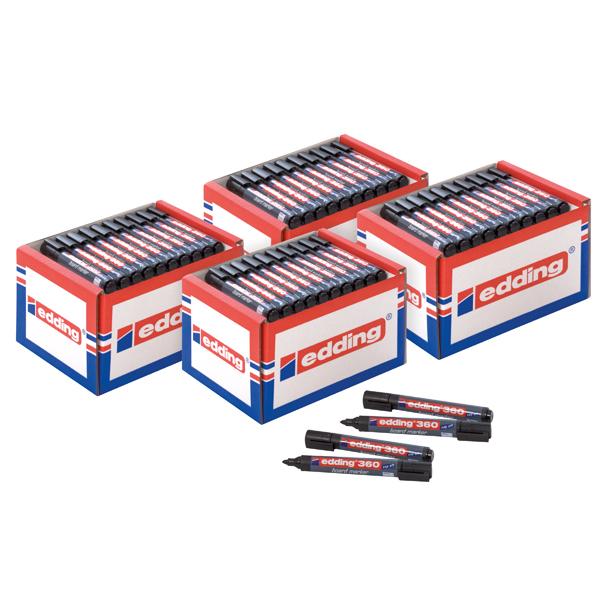 Edding 360 Boardmarker Class Pack Black (50 Pack) 5 for 4 ED810669