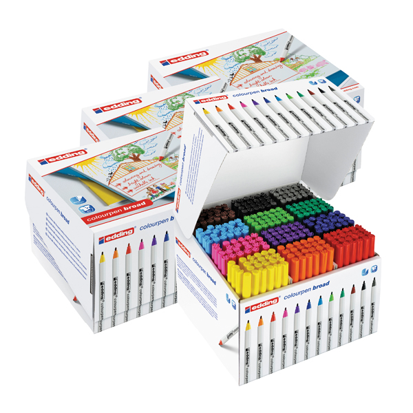 Edding Colour Pen Broad Class Pack (288 Pack) 5 for 4 ED810673