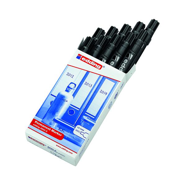 Edding 2000C Permanent Marker Bullet Tip Black (10 Pack) 2000C-001