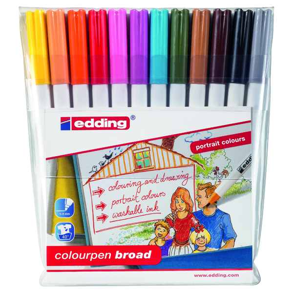 Unspecified Edding Colourpen Broad (12 Pack) 1420999