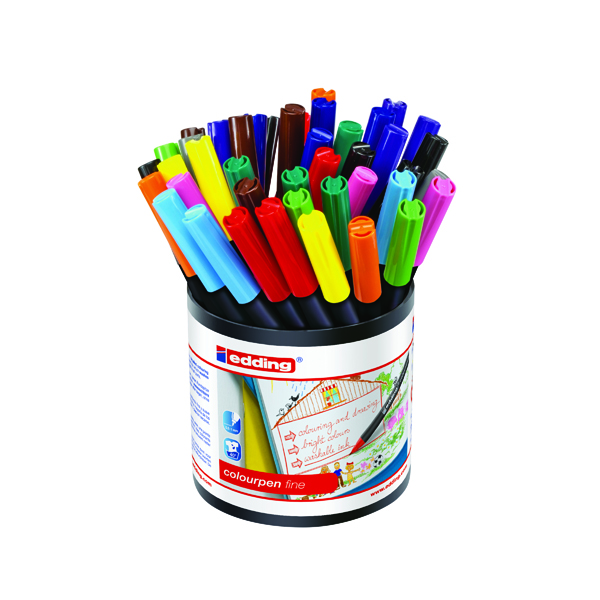 Assorted Edding Colourpen Fine Assorted (42 Pack) 1405000