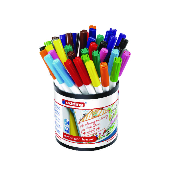Edding Colourpen Broad Assorted (42 Pack) 1406000