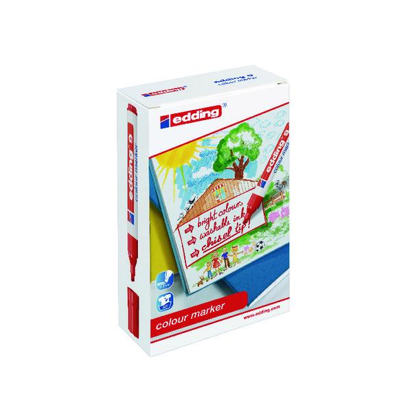 Edding 9 Colour Marker Chisel Tip Assorted (12 Pack) 1415999