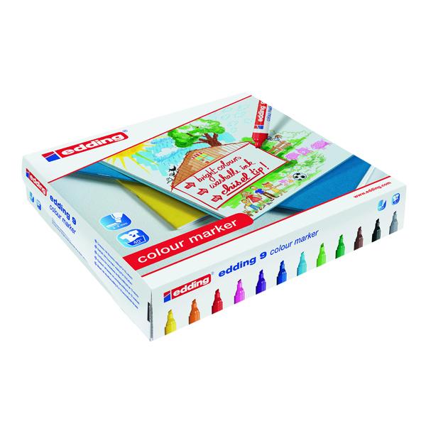 Edding 9 Colour Marker Chisel Tip Assorted (144 Pack) 300459000