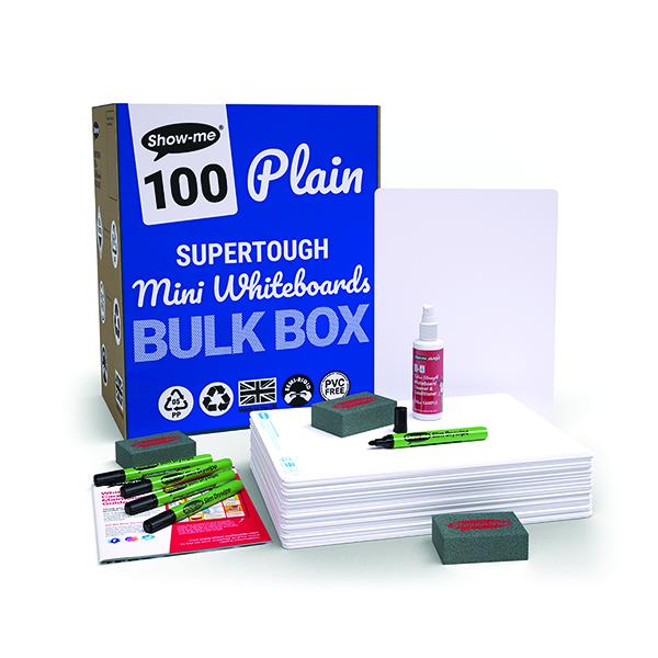 Show-me SUPERTOUGH Drywipe Board A4 Plain (302 Pack) B/SRP