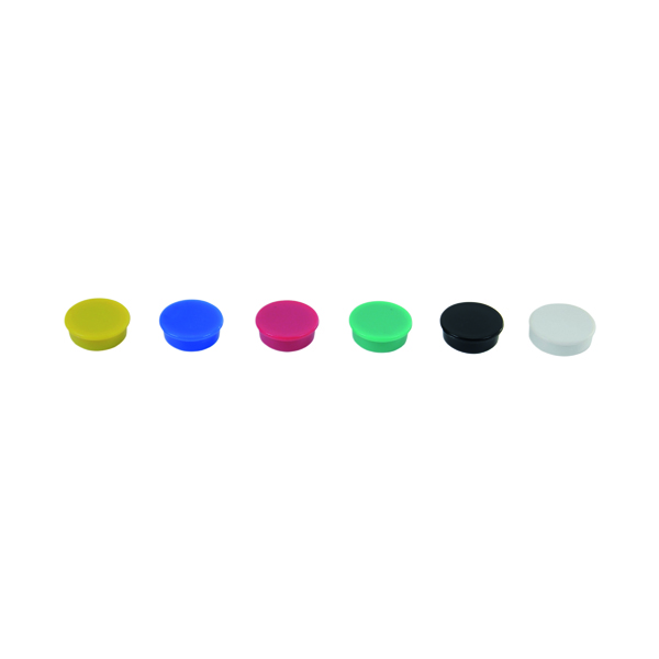 Magnetic Show-me Round Magnets 24mm Assorted (6 Pack) MG6A