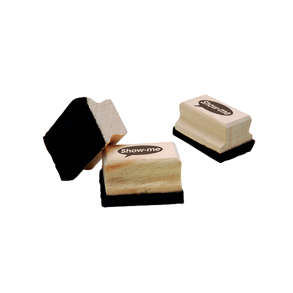 Show-me Mini Wooden Handled Felt Whiteboard Eraser (30 Pack) WME30