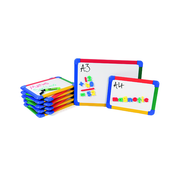 Magnetic  Show-me Magnetic Whiteboard A4 Gridded (10 Pack) MBA4/10