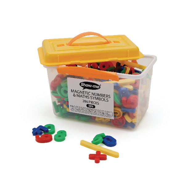 Show-me Magnetic Numbers and Maths Symbols Assorted (286 Pack) MN
