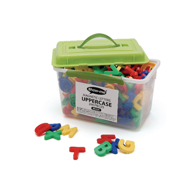 Show-Me Magnetic Upper Case Letters Assorted (286 Pack) MLUC