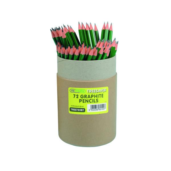 Black Lead Re:create Treesaver Recycled HB Pencil (72 Pack) TREE72HBT