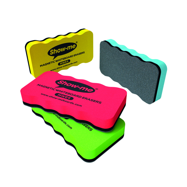 Magnetic Show-me Magnetic Whiteboard Eraser Assorted (4 Pack) MWE4