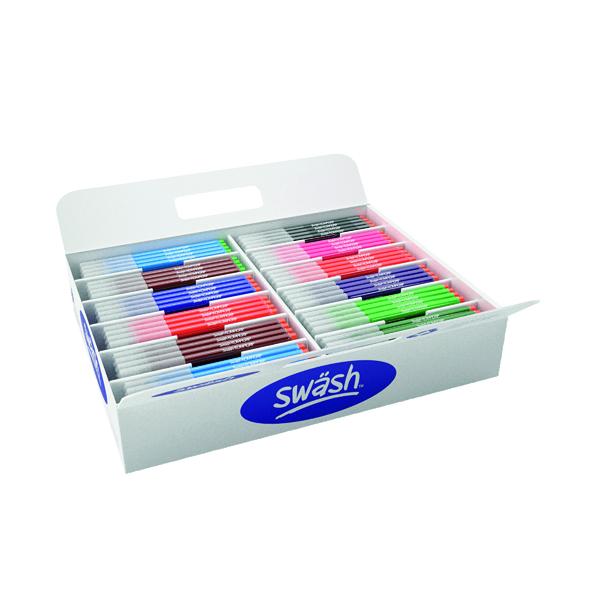 Swash KOMFIGRIP Colouring Pen Broad Tip Assorted (300 Pack) TC300BD
