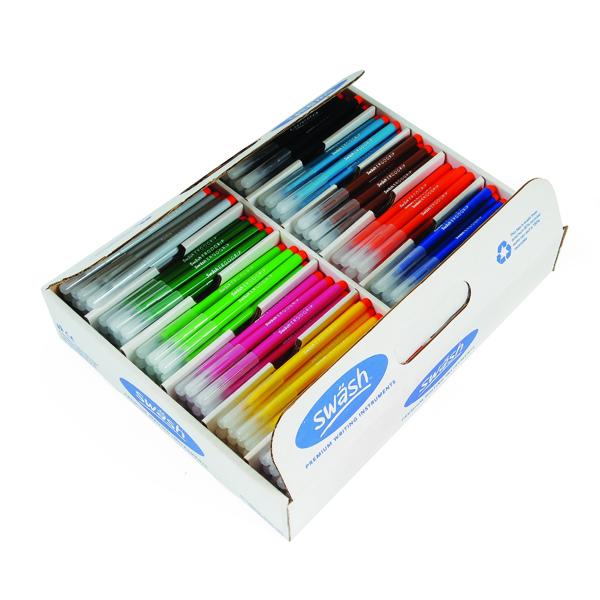 Swash KOMFIGRIP Colouring Pen Fine Tip Assorted (300 Pack) TC300F