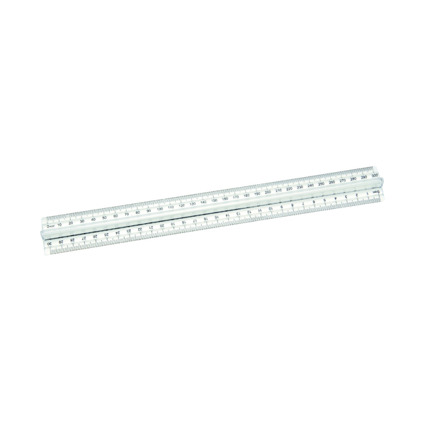 16-30cm Classmaster Finger Grip Ruler Clear (10 Pack) FGR10