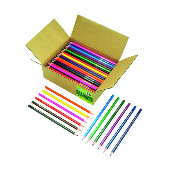 Coloured ReCreate Treesaver Recycled Colouring Pencils (144 Pack) TREE144COL