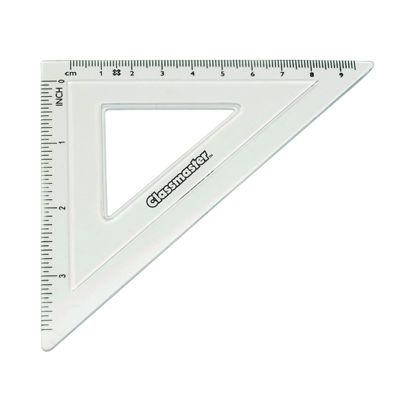 Geometry, etc Classmaster 45 Degree Set Square Clear (30 Pack) S45/30